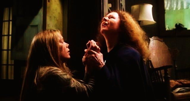 Carrie's mother, Margaret, prays for her daughter's forgiveness, though, as usual, she's done nothing wrong.